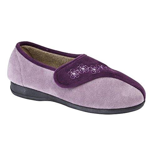 Sleepers - Zapatillas de estar por casa modelo Gemma para mujer (41 EU/Morado/lila)