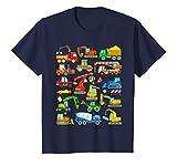 Kinder Bagger Fahrzeug Maschinen Baustelle Laster Baumaschinen T-Shirt