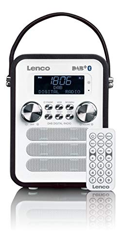Lenco Vintage Digitalradio DAB+ PDR-050 mit Bluetooth , PLL FM-Radio und RDS/LCD Display schwarz