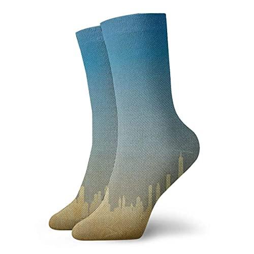 Azul Dental Tela Pasta de Dientes Unisex Divertido Vestido Calcetines Coloridos Divertidos Novedad Crew Calcetines 30 cm/11.8 pulgadas