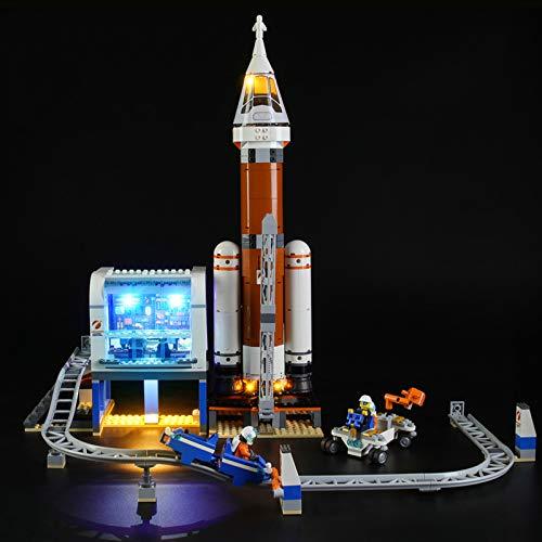 Nlne Kit De Iluminación Led para Lego City Space Port Cohete Espacial Y Centro De Control,Compatible con Ladrillos De Construcción Lego Modelo 60228, NO Incluido En El Modelo