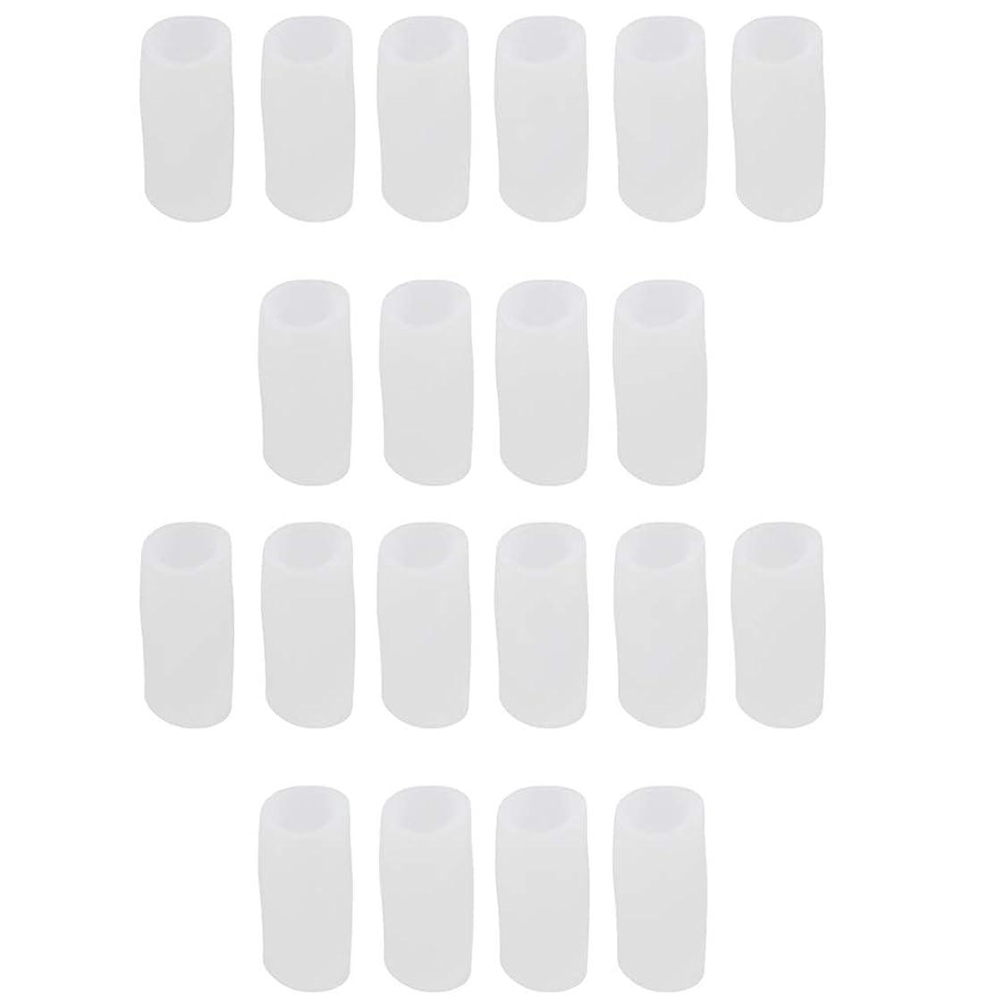 偽善者わずかに疑い者CUTICATE 足指保護キャップ つま先プロテクター つま先 キャップ シリカゲル 柔軟性 洗える 20個 全2サイズ - S