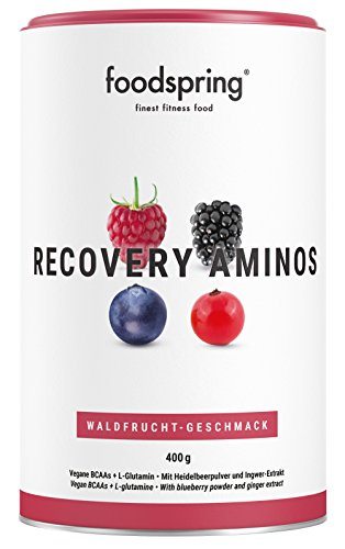 foodspring Recovery Aminos, 400g, Wild Berries, Clean Post-Workout Drink with Plant-Based BCAAs