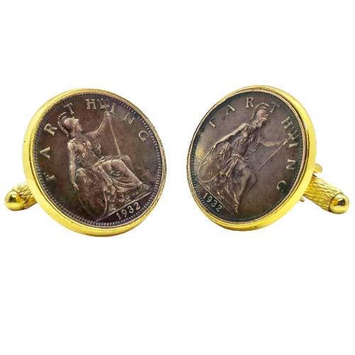 Gemelos para camisa: Genumis Britannia - Moneda 1 farthing 1902-1925 R
