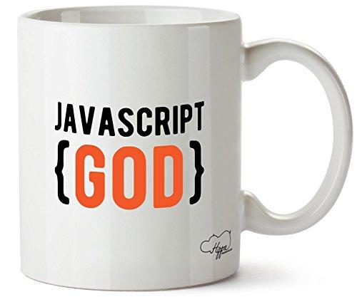 hippowarehouse Javascript Gott 283,5Tasse, keramik, weiß, One Size (10oz)