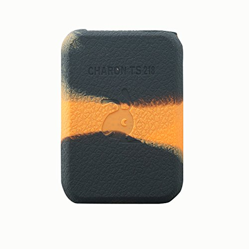 Rayley Modshield Protective Silicone Case Skin Sleeves Cover for smoant charon ts 218 Box mod Charon 218w TC Mod (Black Orange)