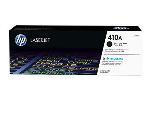 HP 410A CF410A, Negro, Cartucho Tóner Original, de 2.300 páginas, para impresoras HP Color LaserJet Pro serie M452 y M477