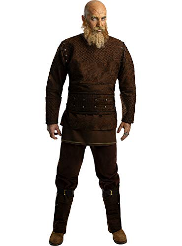 Funidelia | Disfraz de Ragnar - Vikings Oficial para Hombre Talla XL ▶ Vikings, Vikingos, Bárbaro, Nórdico - Color: Marrón - Licencia: 100% Oficial - Divertidos Disfraces y complementos