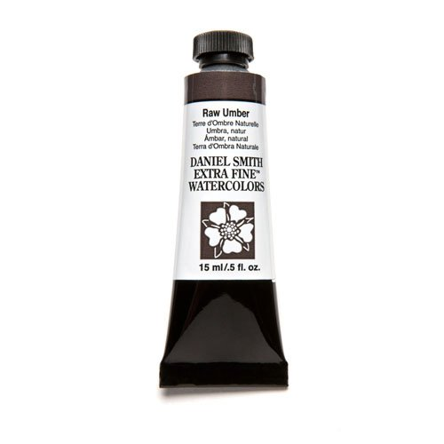 DANIEL SMITH Extra Fine Watercolor 15ml Paint Tube, Raw Umber