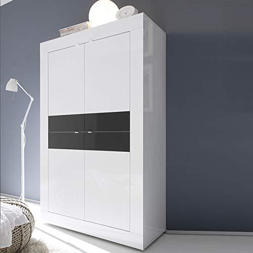 Dressoir hoog wit en grijs gelakt design FOCIA 3