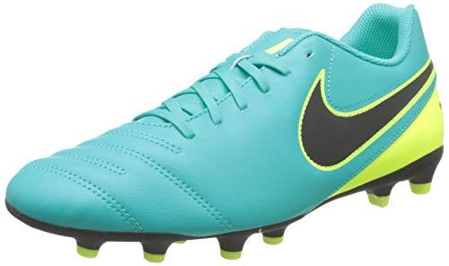 Nike Tiempo Rio III FG, Scarpe da Calcio Uomo, Verde (Clear Jade/Black-Volt) (Nero), 43