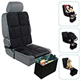 Car Seat Protector with Trash Can - Waterproof Car Seat Pad and Collapsible Trash Bin - Adjustable Auto Seat...
