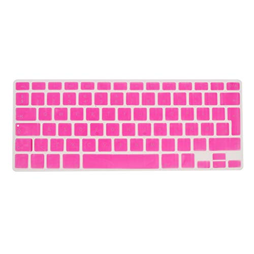 Shiwaki Dänische Phonetische Tastatur Schutzhülle, Kabellose Tastatur Schutzhülle Für 13,3 Zoll 15pro MacBook - stieg rot