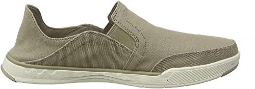 Clarks Men's Step Isle Row Loafers, Beige (Sand Canvas Sand Canvas), 6.5 UK