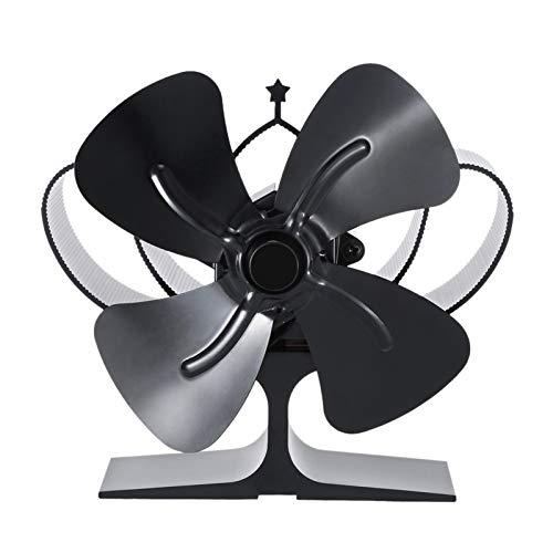 LXF JIAJU Ventilador De Chimenea Burning Chimenea Real Power Chimenea Pequeño Ventilador Ahorro De Energía Ahorro Térmico Fan (Color : Black)