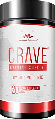 NuLevel Research: Crave - Craving Support for Substances, Alcohol, Sugar & Nicotine - Daily Cravings, Mood & Mind Supplement - 120 Capsules - with High Dose NAC & Chromium - Non-GMO, No Soy or Gluten