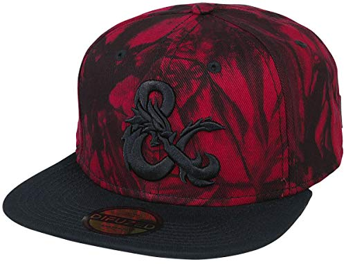 Dungeons and Dragons Drache Männer Cap rot/schwarz one Size 100% Baumwolle Fan-Merch, Gaming, Tabletop