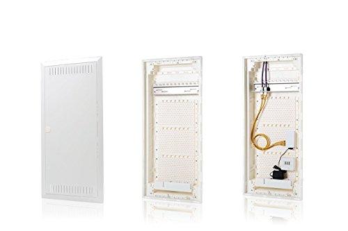 f-tronic 7250033 Kommunikationsverteiler Jumbo K, HW/UP, Montageplatte, 4-reihig, JUMBO48K