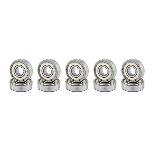 10 x Rodamientos de Bolas en Miniatura 608zz Roller Skate 8 * 22 * 7mm para Impresora 3D