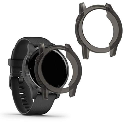 kwmobile Case Protettiva per Fitness Tracker Compatibile con Garmin Vivoactive 4S - Semitrasparente Protezione Sportiva Cardio Orologio Smart