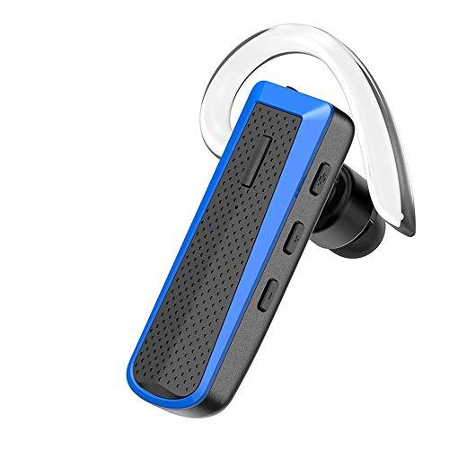 Bluetooth Headset blau für Handy zum Telefonieren 2 Handys Geräte mit Mikrofon Business Auto Büro Etui KFZ universal iPhone 6s 7 Plus X 8 XS XR 11 Samsung Galaxy S8 S9 S10 S20 Huawei P20 P30 P40