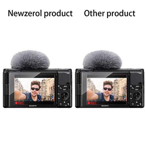 NEWZEROL 3 Stück Bildschirmschutz für Sony Vlog-Kamera ZV-1 Kleinere Größe Gewölbte Kante 2,5D Bogenkanten Kratzfestigkeit 9 Härte Hochauflösendes gehärtetes Glas Bildschirmschutz