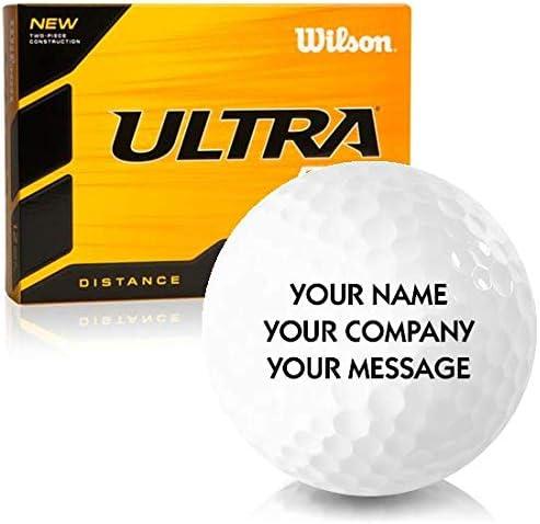 Wilson Ultra 500 Distance Personalized Golf Balls