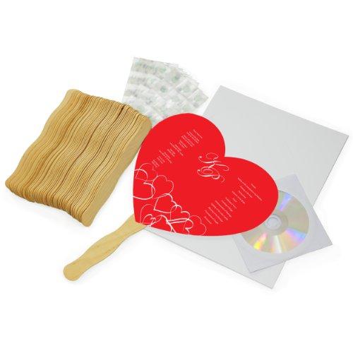 Cathy's Concepts DIY Heart Fan Program Paper Kit Diy Heart Fan Program Paper Kit