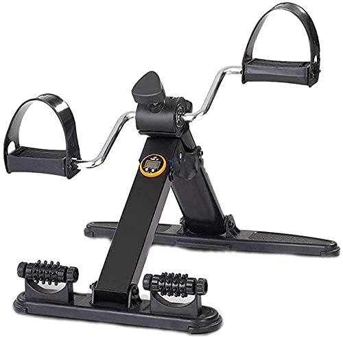 ZHZHUANG Plegable Mini Ejercicio Bicicleta Portátil Pedal Pedal Pedal Gimnasio Fitness Pierna Brazo Cardio Entrenamiento Ajustable Resistencia con Pantalla Lcd para Mujeres Y Hombres