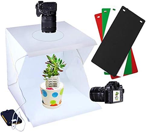 Rubik 30cm Photo Studio Box, Portable Photography Shooting Light Tent Kit, White Folding Lighting Softbox with 60 LED Lights + 4 Backdrops for Product Display (30x30x30cm Photo Studio)