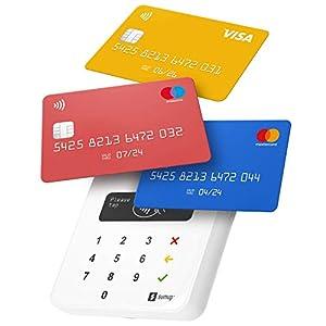 immagine di Lettore di carte SumUp Air per pagamenti con carta di debito, credito, Apple Pay, Google Pay. Dispositivo portatile contactless - avvicina soltanto la carta, il telefono o in modalità Chip & Pin
