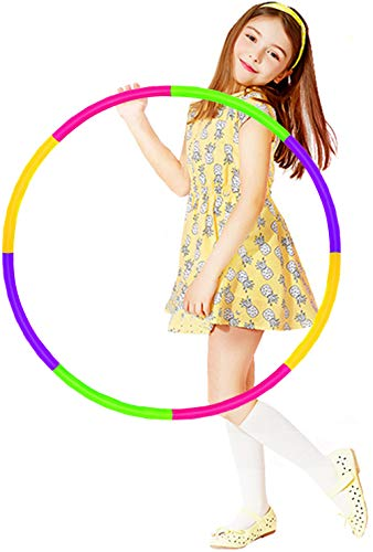 HAFUZIYN Kids Hoola Hoop, Detachable Adjustable Weight Size Plastic...
