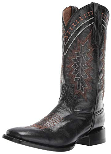 Ferrini Men's Apache Western Boot, Black, 9 D US
