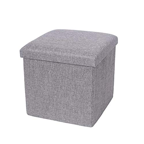 ZXCVBNM Baúl Puff Taburete for Almacenaje Plegable - Asiento Plegable Arcón Asiento Puf Ordenación Caja De Almacenaje Baúl Puff (Color : Gray, Size : 30x30x30cm)