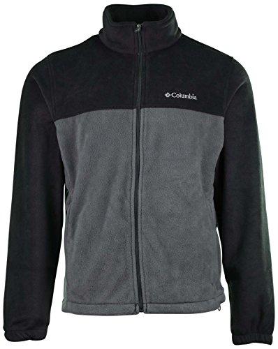 Columbia Men's Granite Mountain Fleece Jacket-Dark Gray/Gray-Large