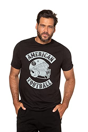 JP 1880 Herren große Größen Übergrößen Menswear L-8XL Jay-PI T-Shirt, Football, Druck in Used-Optik schwarz 3XL 726618 10-3XL