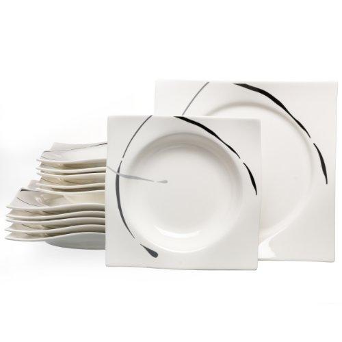 Ritzenhoff & Breker Dacapo Tafelservice 12-teilig, hochwertiges Porzellan, spülmaschinengeeignet, 582765