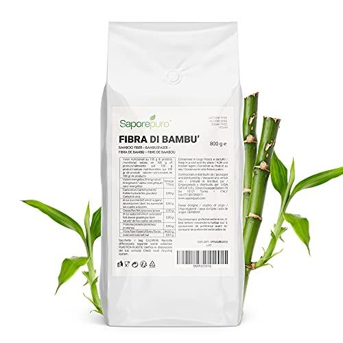 Fibra di bambù alimentare - 800 gr - farina a basso contenuto di carboidrati ideale per cuocere e infarinare
