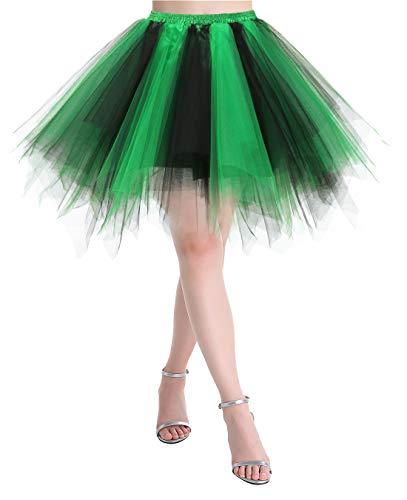 Tütü Tulle Gonna Sottoveste Balletto Vestito Donna Mini rock Sottoveste Swing Corto /& Lang