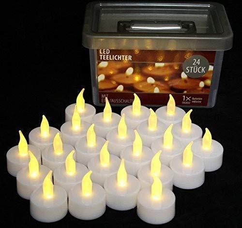 Unbekannt 24x LED Teelicht in Box Teelichter