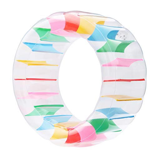 Kurala Inflatable Water Wheel, Giant Roller Float, Colorful Swimming Pool Toy for Kids Adults, Diameter 47'