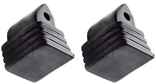 Inliner-Bremse Bremsstopper Bremsklotz aus TPR für Inlineskates Raven Pulse, Celeste, Angel, Sensor, Spirit, Expert, Breathe, Vella/Croxer Dahlia (schwarz)