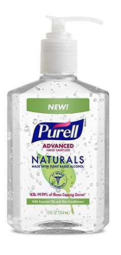 PURELL Advanced Hand Sanitizer Naturals 12oz Pump Bottle lemqae, 1 Bottle