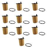 Basage 10 PièCes SéRies/Ensemble Filtres à Huile Moteur pour C4 C-Elysee DS4 Nemo Xsara pour Focus pour 206308 pour Liana pour Axela 1109AY