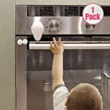 EUDEMON Childproof Oven Door Lock, Oven Front Lock Easy to Install and Use Durable and Heat-Resistant 3M Tapes no Tools Need or Drill(1 Pack,White)