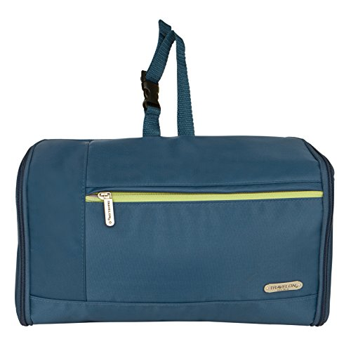 Travelon Luggage Flat-Out Toiletry Kit Steel Blue
