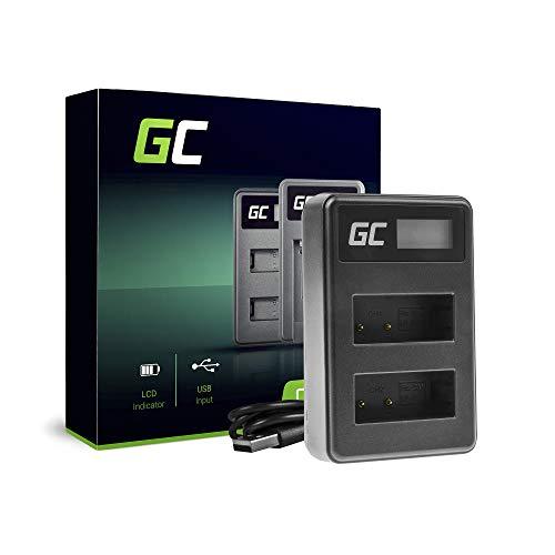 Green Cell® LC-E17 - Caricatore doppio per fotocamere Canon LP-E17 e EOS 77D 200D 770D 760D 750D 8000D M3 M5 M6 Rebel T6i Rebel T6s X8i, 5 W 8.4 V 0.6 A, colore: Nero
