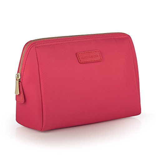 CHICECO Nylon Groß Kosmetiktasche Damen Schminktasche für Handtasche Kulturbeutel - Nylon Rot
