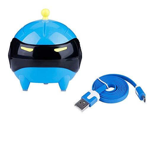 Lavadora De Lentes De Contacto,5 Colores Máscara De Bola De Lentes De Contacto Portátil Lavadora USB Limpiador Automático De Lentes Kit De Almacenamiento De Lentes De Contacto(azul)