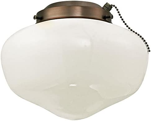 Westinghouse Lighting 7781700 Schoolhouse Indoor Outdoor 4 Inch Fitter Ceiling Fan Light Kit product image